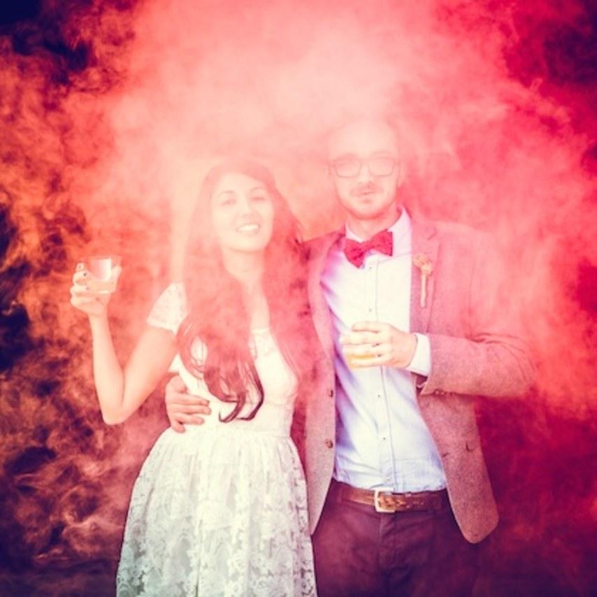 renkli düğün fotoğrafı