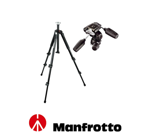 Manfrotto 055X PROB + 804 RC2 Kafa
